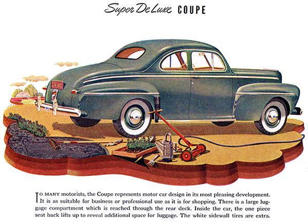 Primary image for 1942 Ford Super De Luxe Coupe - Promotional Advertising Poster