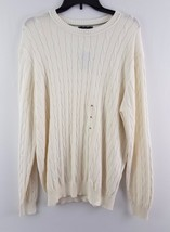Club Room Men's Pima Cotton Cable-Knit Sweater Winter Ivory - $19.99