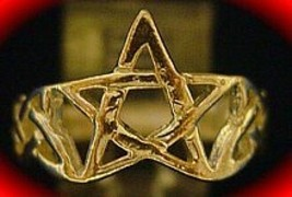Celtic Pentagram Ring Infinity knot Silver Gold Plated - $21.05
