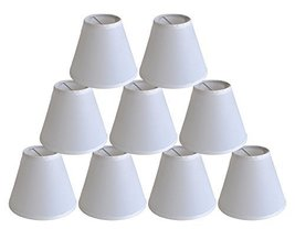 Urbanest Set of 9 Satin Chandelier Lamp Shade, 3-inch by 6-inch by 5-inch, Off W - $49.49