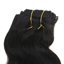 "Easyouth 8"" Natural Black Curly Clip in Extensions Body Weave 7Pcs/Set 100g Per  image 2"