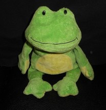 Ty Pluffies 2010 Estanques el Bebé Verde y Amarillo Rana Peluche Juguete de - $12.46