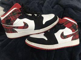 Nike Jordan Red Plaid (Size 7Y Or 7.5/8 Women's) - $170.00