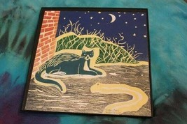 CAT FOLK ART CHILDREN'S BOOK STYLE, GOODNIGHT MOON, DR SEUSS CAT IN THE HAT - $64.00