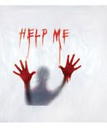 New Bloody DELUXE HELP ME SHOWER CURTAIN Halloween Horror Prop Morgue De... - $18.97