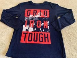 Childrens Place Boys Navy Blue Red Grid Iron Football Long Sleeve Shirt ... - $8.80