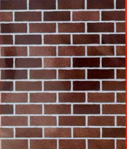 """Christmas House Brick Wall Plastic Wall Mural 42"""" x 50 in.  - $6.00"""