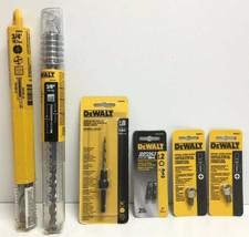 "(New) Dewalt 3/4"", 3/8"" Hammer Drill Bit, #8 Countersink, #2 Bit Tips, Screw Set - $59.39"