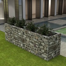 "vidaXL Gabion Planter Steel 141.7""x35.4""x39.4"" Patio Flower Plant Bed Ba... - €170,09 EUR"