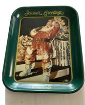 Coca-Cola Try Tin Santa Seasons Greeting Issued 1993 - $14.62