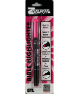 Zebrite Double Ended Highlighter Carded Pink NEW Medium & Fine No Bleed ... - $7.76