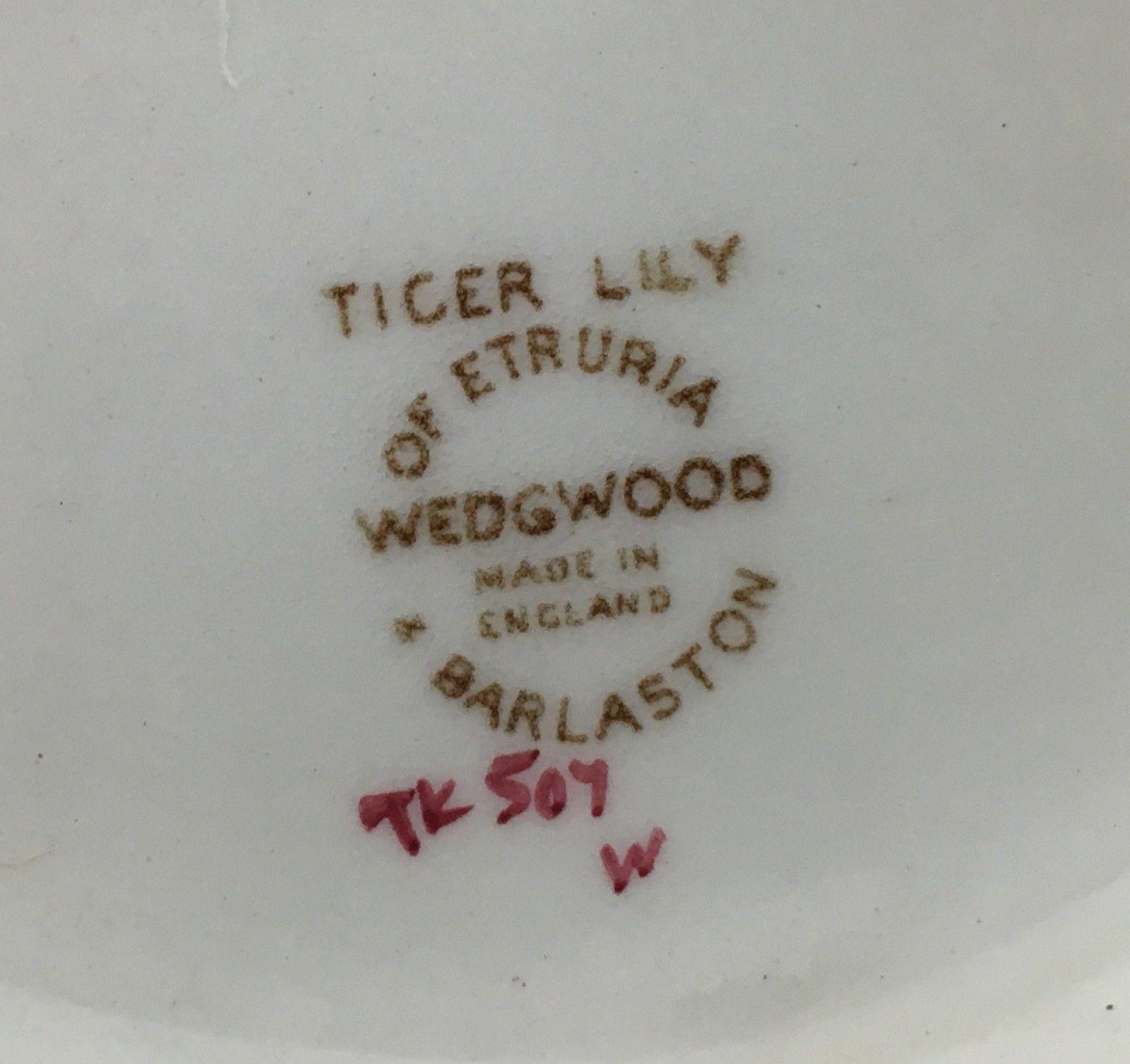 Wedgwood TIGER LILY gravy boat (SKU EC 206) FREE SHIPPING image 4