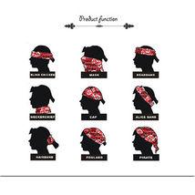 1PC Unisex Hip Hop Black Paisley Bandana Headwear Hair Band Scarf Neck Wrist Wra image 4