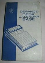 NEW Vintage Defiance Gray Plastic Desk Calendar Base SD581 New Old Stock - $16.82