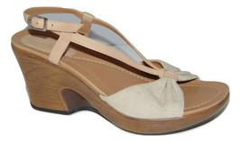 DANSKO Linen and Leather Comfort Sandals 38 7.5 - 8 - $24.00
