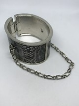 Black and white faux snake skin snap bracelet - $14.85