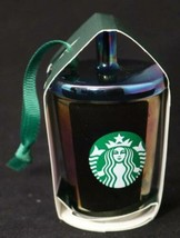 Starbucks 2019 Black Shiny Iridescent Ceramic Cold Coffee Cup Ornament - $18.76