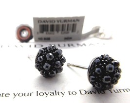 David Yurman Hematite Berries Stud Earrings in Sterling Silver - $650.00