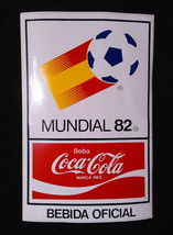 Vintage Sticker ✱ Coca Cola & Spain 82 Fifa World Cup ✱ Decal Soccer 80´s - #2 - $15.99