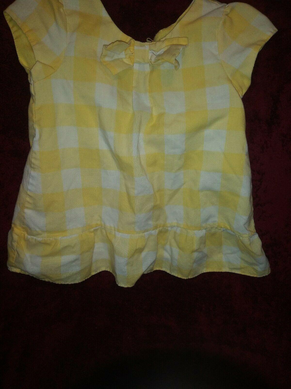 Abs Kids Adorable Yellow&White Checkered? Dress Toddler Girls Sz 18 Months - $13.85