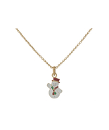 Dainty Goldtone Christmas Themed Pendant Necklace - $11.95