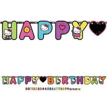 Hello Kitty Tween Neon Birthday Party Add an Age Jumbo Banner 1 Per Package New - $7.43