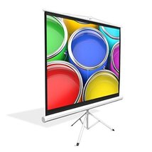 "Upgraded Pyle 72"" Projector Screen with Floor Standing Portable Fold-Out... - $114.08"