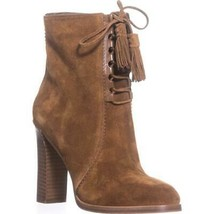 Michael Kors Collection Odile Lace Up Booties, Luggage - $177.99