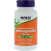 Now Foods, Ashwagandha, 450 mg, 90 Veg Capsules Ayurvedic Adaptogen homeopathy - $23.00
