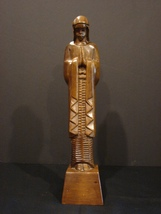 Hand-Carved Wood Statue of Virgin Mary by Mabini Handicrafts - $13.99