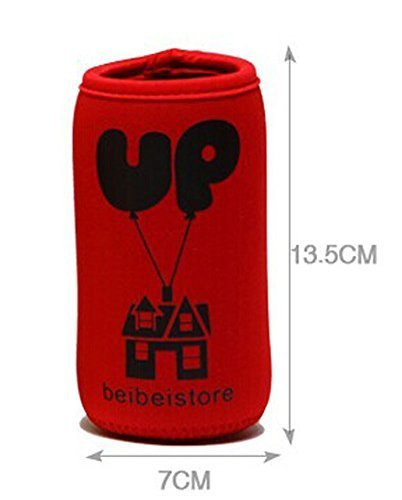Feeder Milk Bottle Deading Warm Keep Pretecter Bag (13.57CM)/Red