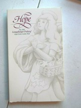 "Longaberger 1994 ""Hope"" Pottery Angel Series Cookie Mold /Vintage With Box - $13.79"