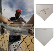 Carlos Santana Cleveland Indians Signed Autographed Baseball Home Plate ... - $145.49
