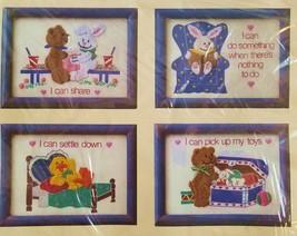 Crewel Kit I Can 4008 Duck Bear Bunny Four 5 x 7 Images The Creative Cir... - $15.99