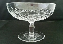 WATERFORD LISMORE FOOTED CRYSTAL COMPOTE SERVING CANDY DISH BOWL - $98.01
