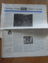 Flaming Gorge Visitor's Guide National Recreation Area Utah - $5.99