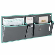 mDesign Fabric Wide Large Over The Cubical Wall Mounting Hanging File Folder Not image 1
