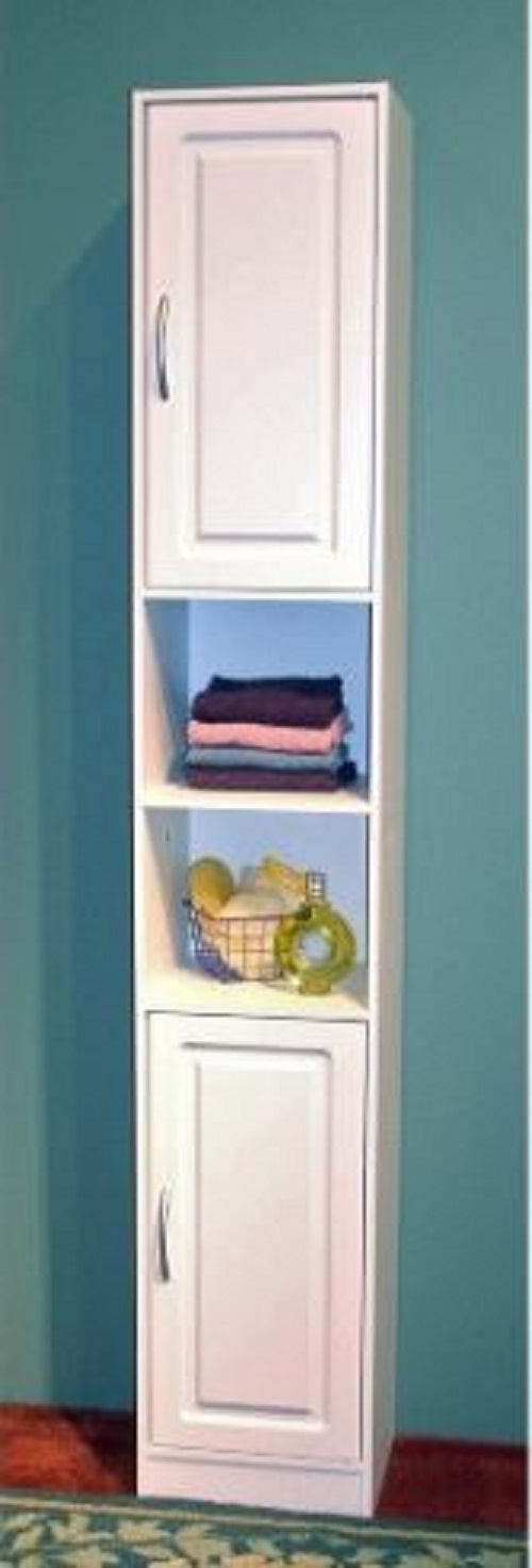 Bath Shelves Slim Bathroom Cabinet Storage Organizer Towels Bedroom Sheets Linen