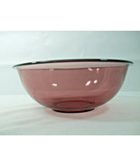 Vintage Pyrex #326 Large 4.0 LCranberry Glass Nesting Mixing Bowl 4.2 Quart Rim - $24.70
