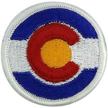 GENUINE U.S. ARMY PATCH: COLORADO NATIONAL GUARD - COLOR - PAIR - $17.80