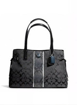 NWT Coach F24882 Signature Python Stripe Carryall Shoulder Bag  ( 2 Colo... - $125.77