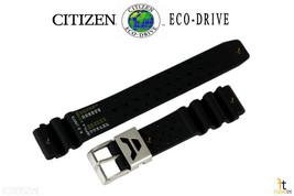 Citizen 59-L7331 22mm Original Caucho Negro Correa de Reloj para H19594 H19608 - $62.29