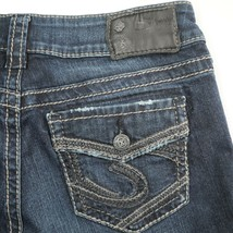 Silver Suki Dark Wash Mid Rise Slim Boot Cut Jeans Womens 26 Hemmed 26x29.5 - $29.52