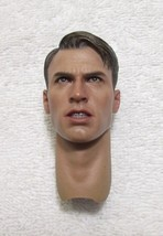 Avengers Captain America Head Sculpt 1/6th Scale MMS 174 - Hot Toys 2012 - $47.40