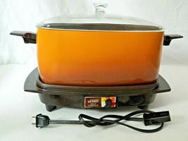 Vintage Montgomery Ward 6 Qt Slo Cooker Base & Power Cord Slow Kitchen E... - $44.55