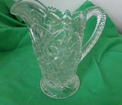 Vintage Brilliant Imperial Glass Pitcher Cosmos - $35.63