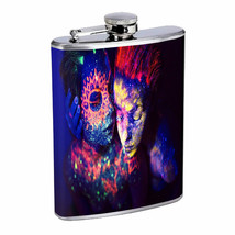 Neon Rave Em1 Flask 8oz Stainless Steel Hip Drinking Whiskey - $13.81