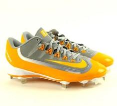 Nike Huarache 2KFilth Pro Low Gray Yellow Mens Size 8 Baseball Cleats 807126 071 - $39.95