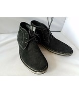 NEW Steve Madden Hacksaw 015 Men's Shoes Black Suede Leather Boots Loafers - $35.93+