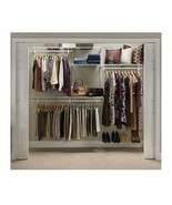 Closet Organizer Hanging Shelves System Rack Shelf Wardrobe Shoe Adjusta... - £154.52 GBP